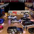 Electronomous car show on the move