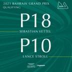 Bahrain Grand Prix qualification Aston Martin Cognizant F1 drivers' reactions