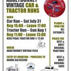 Details of Abbeydorney classic car run on Saturday