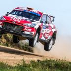 Breen and Nagle's first European Rally Championship podium for MRF Tyres
